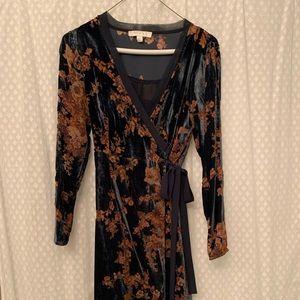 Blue+orange-gold XS Anthropologie dress. Worn once